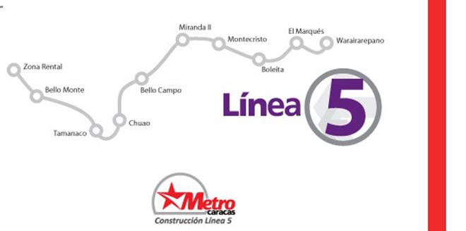 Resultado de imagen para Línea 5 del metro de caracas