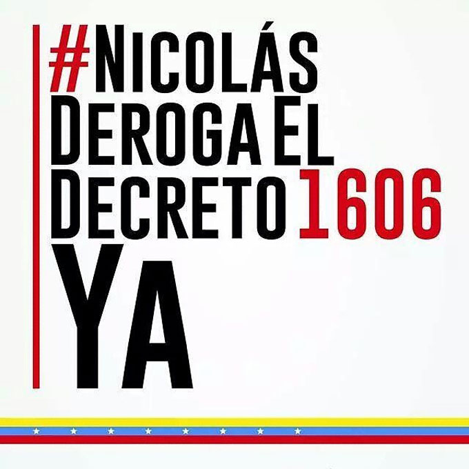 Maduro deroga el Decreto 1606 YA