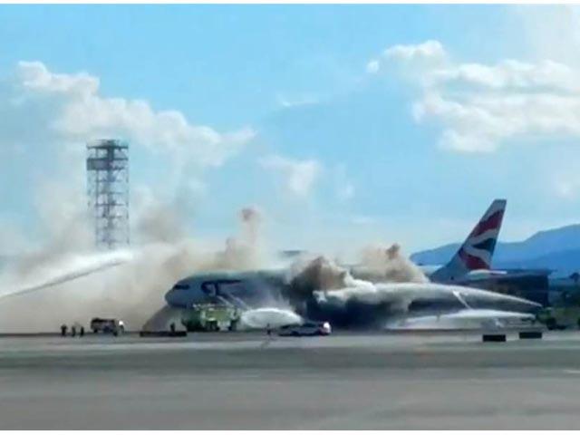 Incendio de un Boeing 777