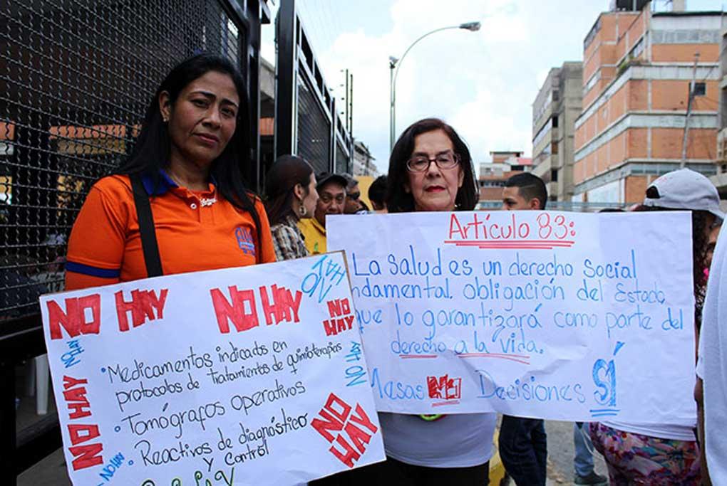 La crisis humanitaria en Venezuela es de medicinas y alimentos